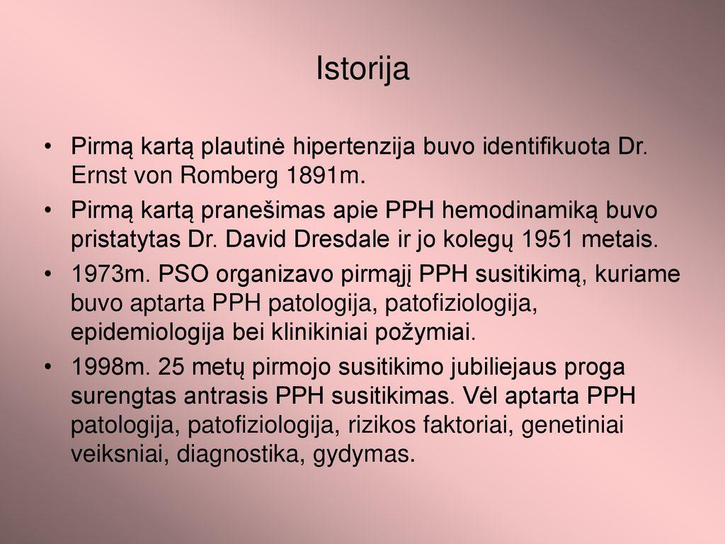 ligos istorija su hipertenzijos diagnoze