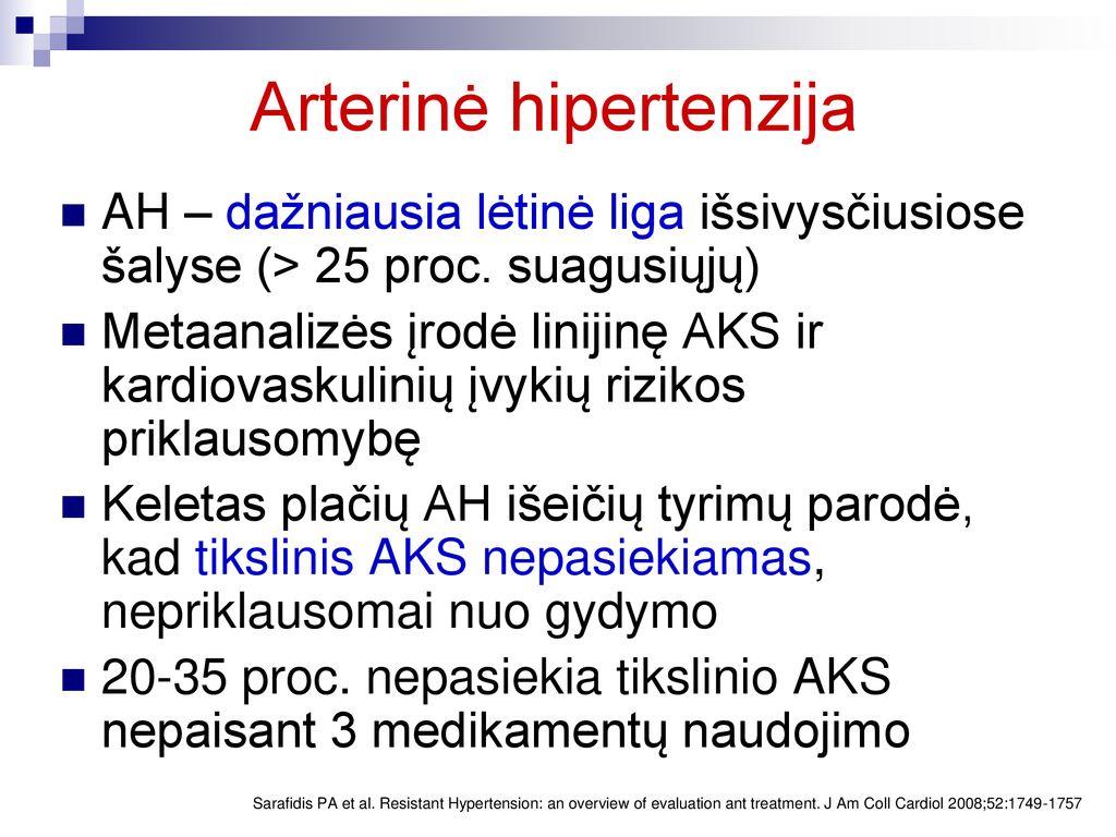 efektyvus hipertenzijos gydymas namuose
