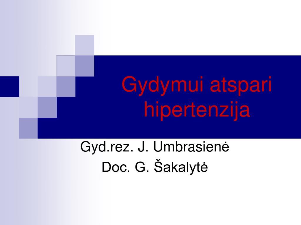 su hipertenzija, diuretikais