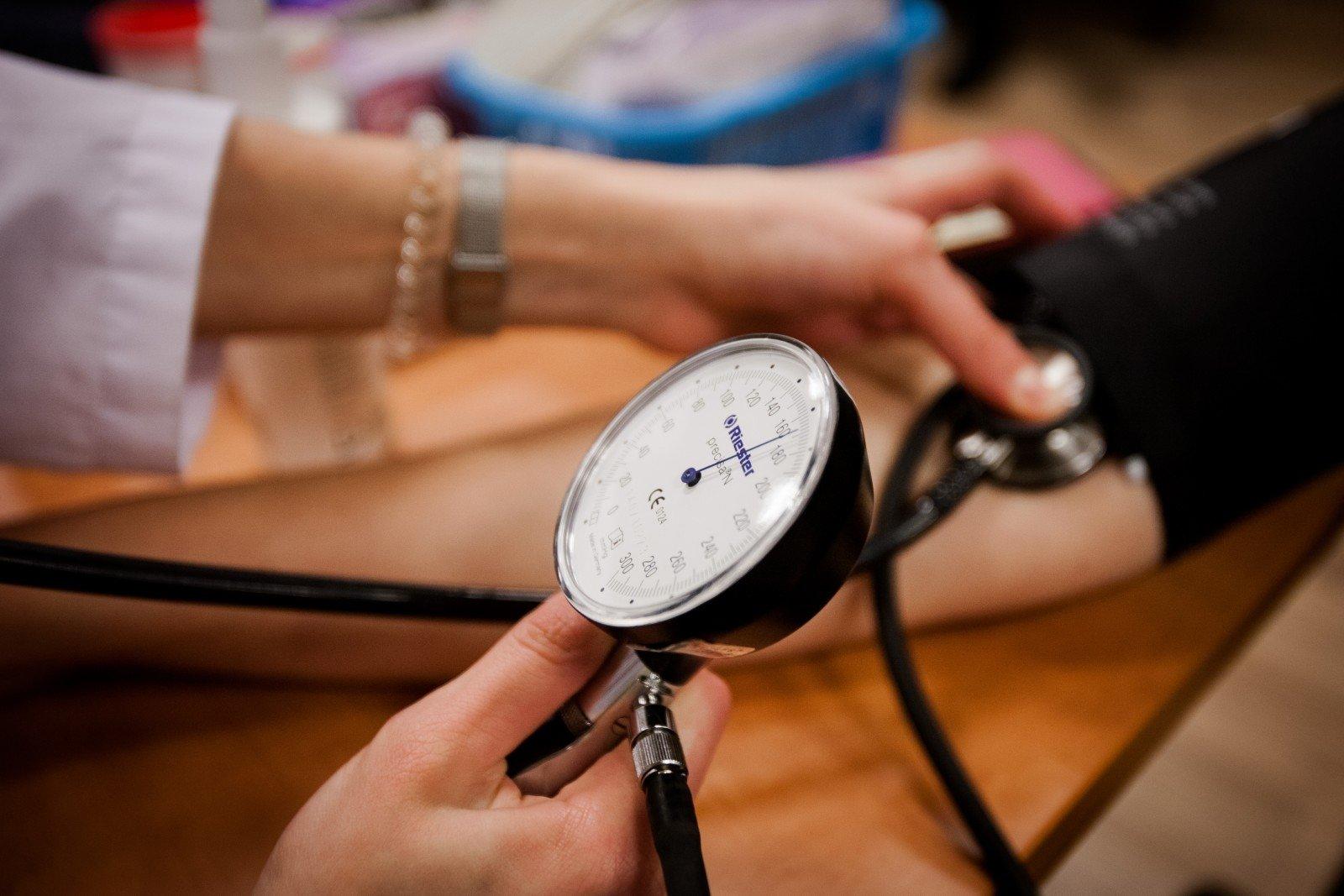 hipertenzija sergančių pacientų skundai