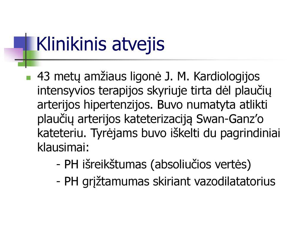 hipertenzijos diagnostikos standartas