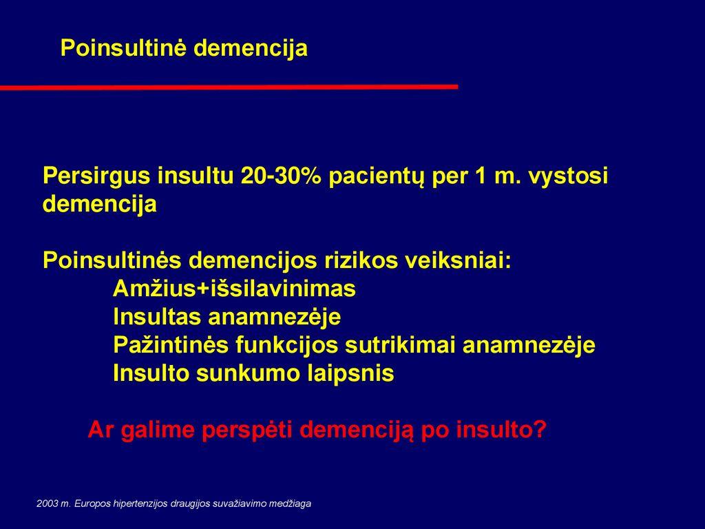 insulto ir hipertenzijos ryšys