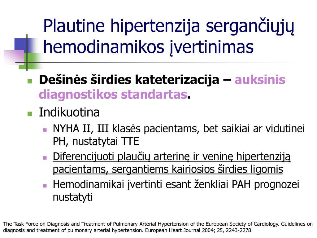 hipertenzijos diagnostikos standartas 60 metų vyro hipertenzija