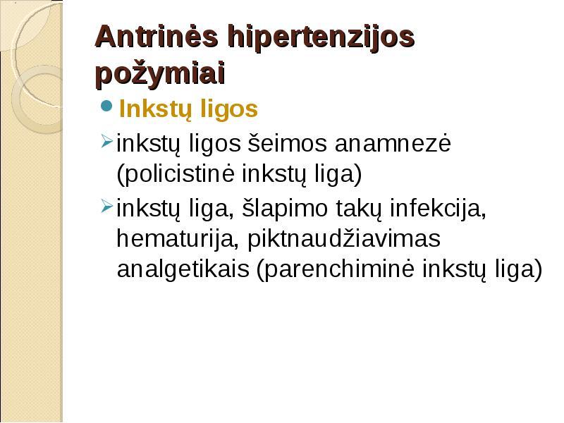 inkstų hipertenzijos patogenezė