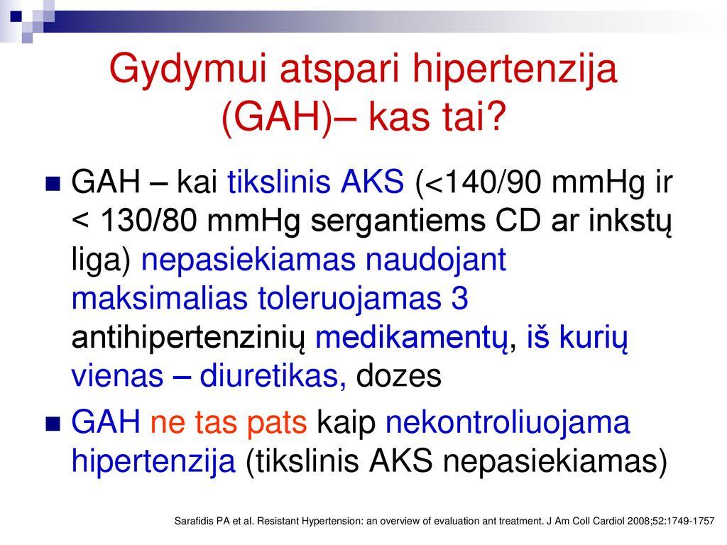 kas yra blogai hipertenzija
