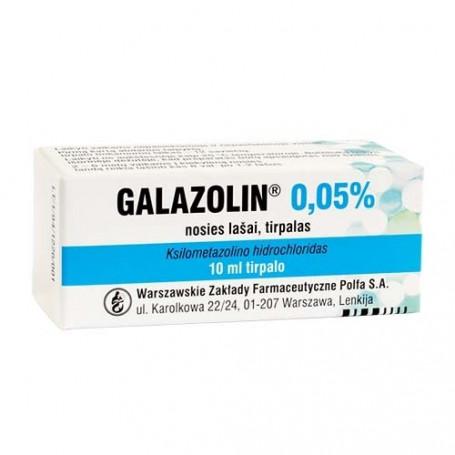 GALAZOLIN, 0,05 %, nosies lašai (tirpalas), 10 ml