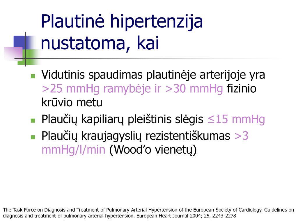 hipertenzijos diagnostikos standartas širdies sveikatos būklės