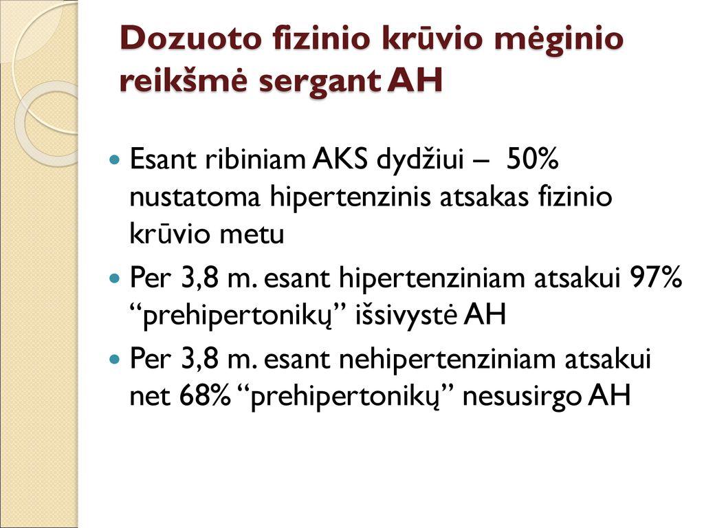testai ir atsakai dėl hipertenzijos hipertenzija ir prolapsas