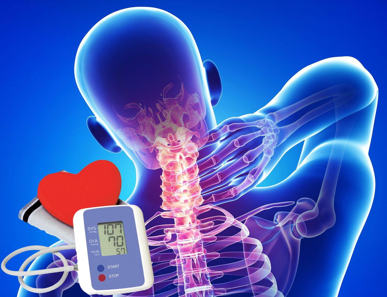 osteochondrozė hipertenzijos priežastis mobilizacija su 2 laipsnio hipertenzija