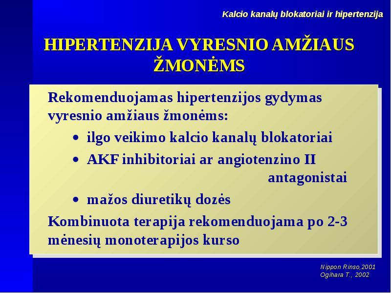 medicinos centrai hipertenzija
