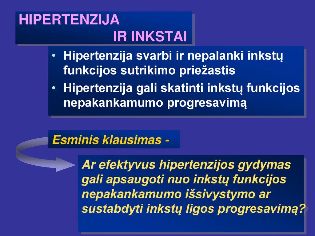 biocheminiai inkstų hipertenzijos mechanizmai